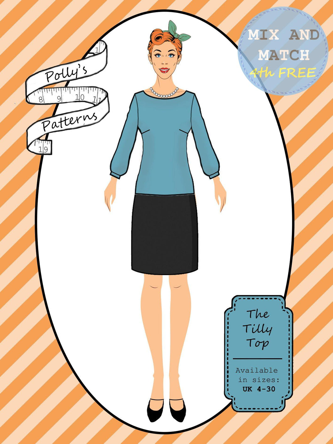 Polly's patterns - The Tilly Top - Pattern Shop