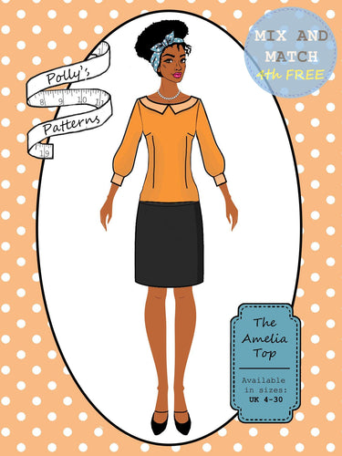 Polly's patterns - The Amelia Top - Pattern Shop