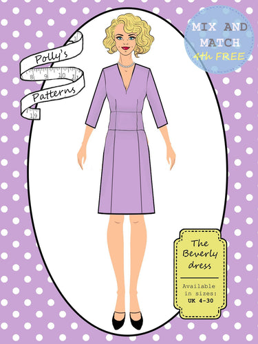 Polly's patterns - The Beverly Dress - Pattern Shop