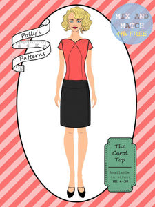 Polly's patterns - The Carol Top - Pattern Shop