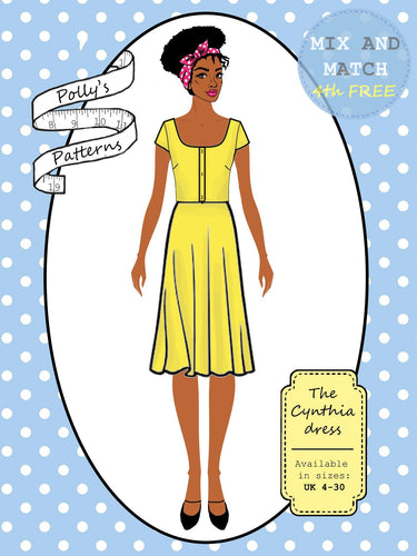 Polly's patterns - The Cynthia Dress - Pattern Shop