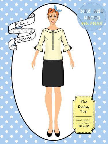 Polly's patterns - The Daisy Top - Pattern Shop