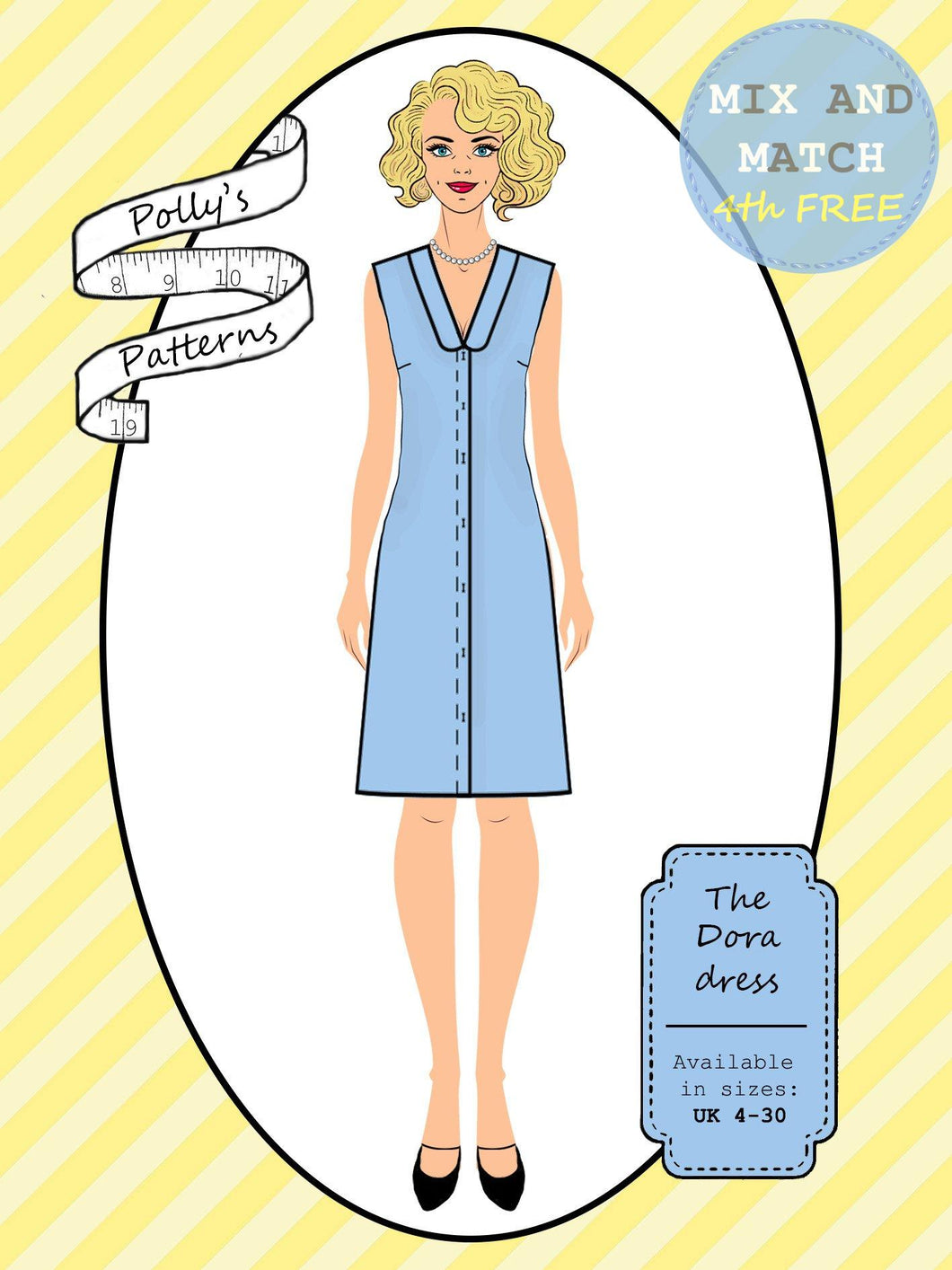 Polly's patterns - The Dora Dress - Pattern Shop