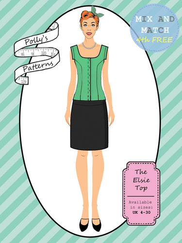 Polly's patterns - The Elsie Top - Pattern Shop