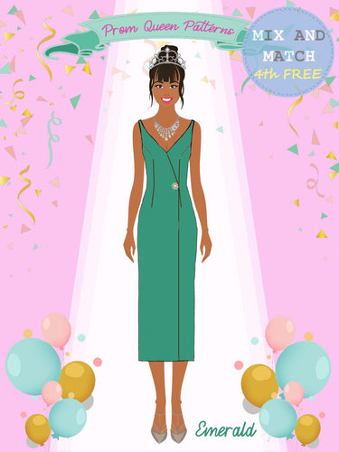 Prom Queen Patterns - Emerald - Pattern Shop
