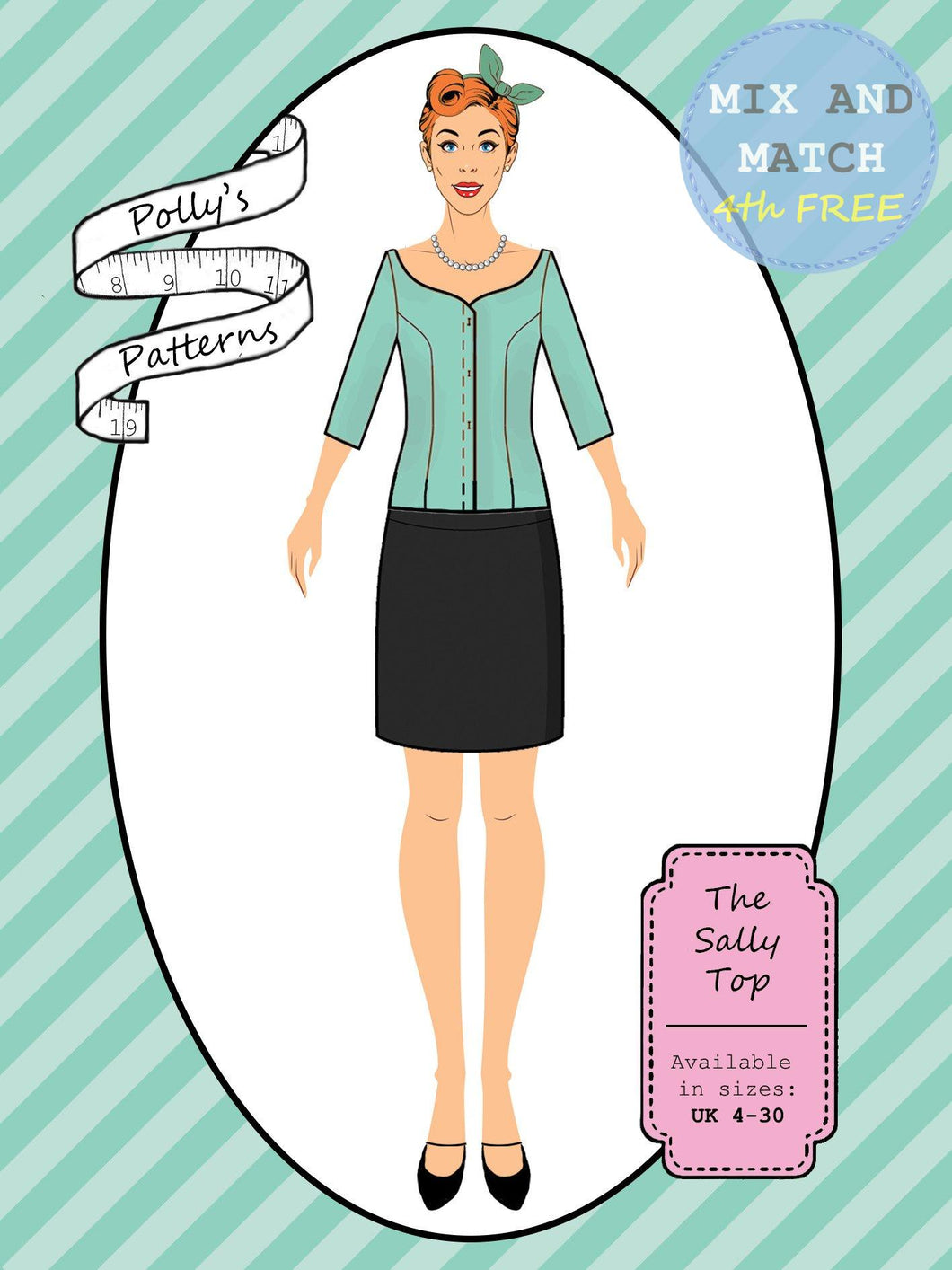 Polly's patterns - The Sally Top - Pattern Shop