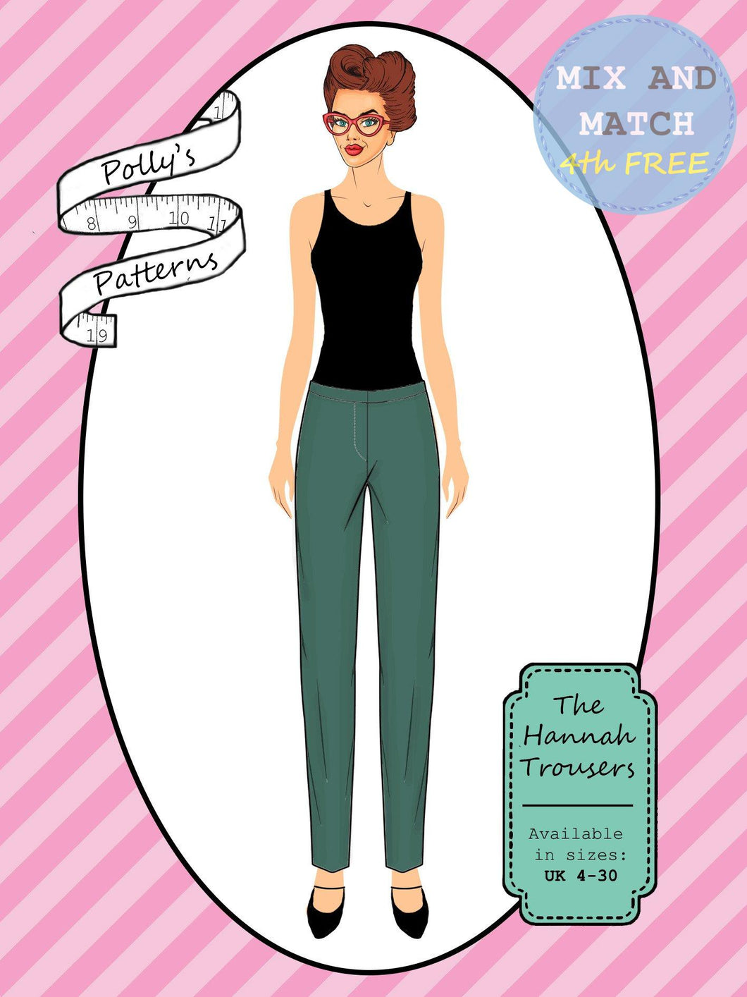 Polly's patterns - The Hannah Trousers - Pattern Shop