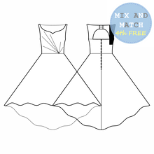 Load image into Gallery viewer, Prom Queen Patterns - Jade - Pattern Shop