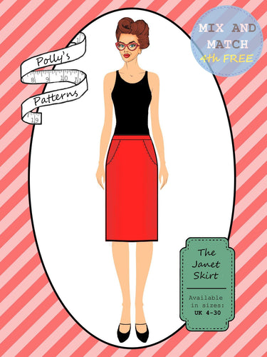 Polly's patterns - The Janet Skirt - Pattern Shop