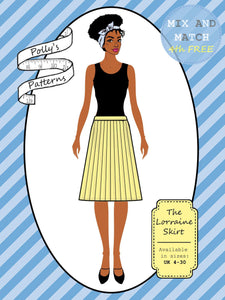 Polly's patterns - The Lorraine Skirt - Pattern Shop