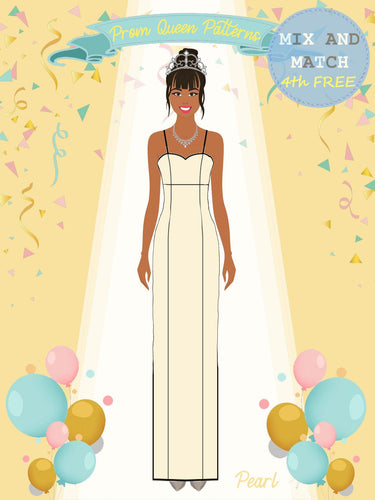 Prom Queen Patterns - Pearl - Pattern Shop