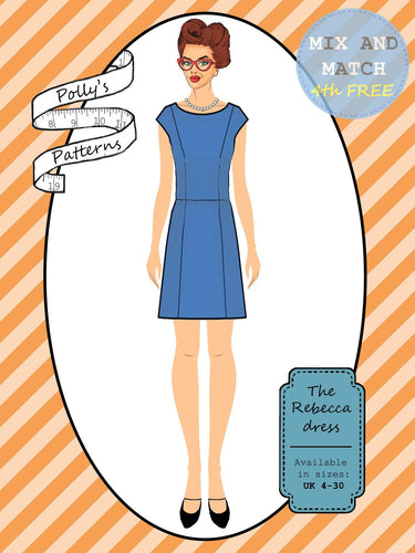 Polly's patterns - The Rebecca Dress - Pattern Shop