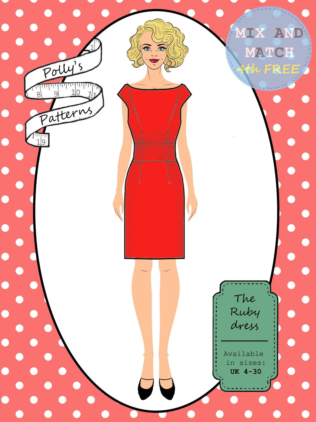 Polly's patterns - The Ruby Dress - Pattern Shop