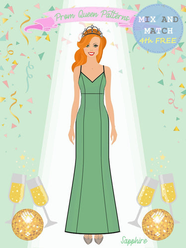 Prom Queen Patterns - Sapphire - Pattern Shop