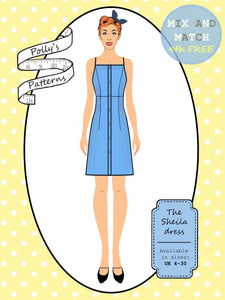 Polly's patterns - The Sheila Dress - Pattern Shop