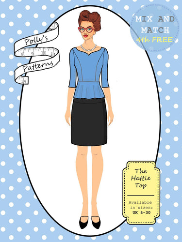 Polly's patterns - The Hattie Top - Pattern Shop