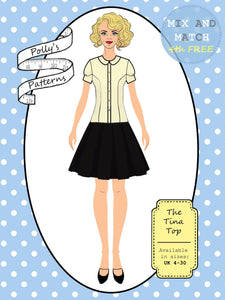 Polly's patterns - The Tina Top - Pattern Shop