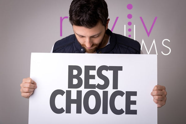 Best choice sign with Reviv Serums logo