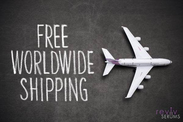 FREE worldwide shipping for our remarkable serums