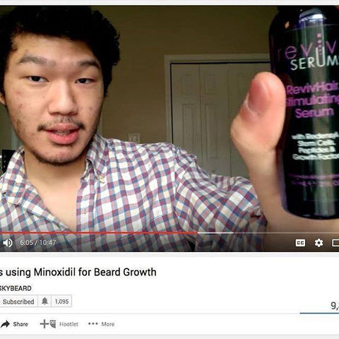 Beard and moustache growth accelerator