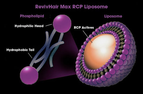 RevivHair Max RCP time-released liposome Redensyl Capixyl Procapil