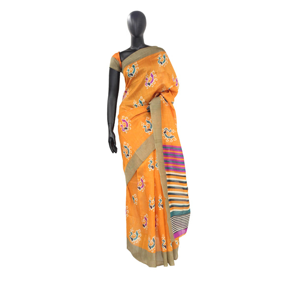 Banana Cotton Patola Print Beautiful  Saree