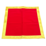 Red velvet Asan Designer mat/ Table cover