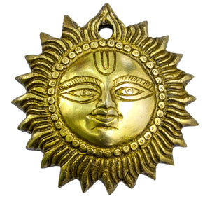 The Holy Mart Pure Brass Sun wall Hanging  | Suraj in Brass