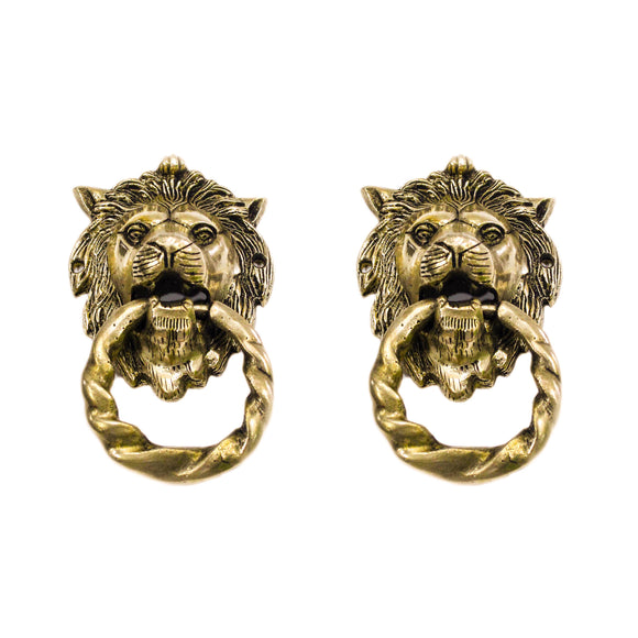 100% Pure Brass Lion Door multipurpose Home Decor
