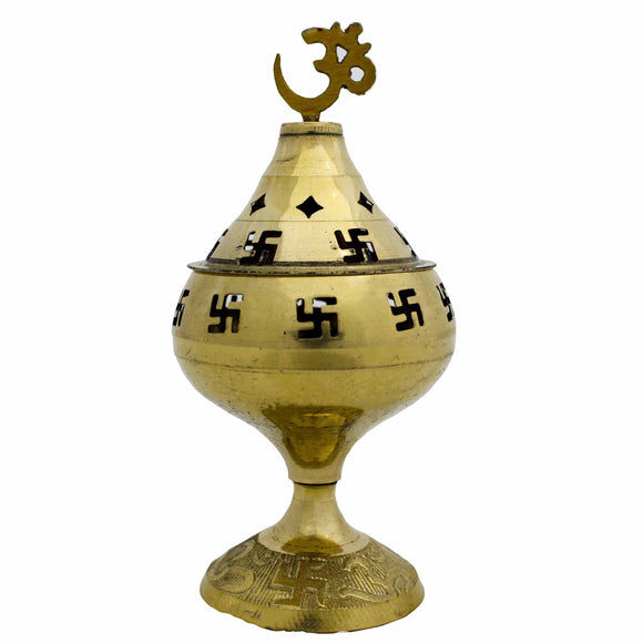 100% Pure Brass Akhand Jyot diya with beautiful Satiya design