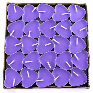 Tea Light candles (Set of 50) Heart shaped