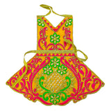 Marble Deity Full Silk Dress with Embroidery (21 cm)