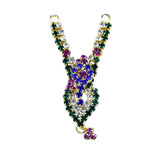 Big Peacock Diamond Stud Mala Mukut | Deities jewellary set