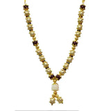 Gold Plated Metallic Mala with Pearls for God