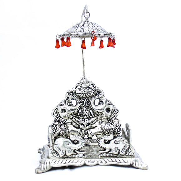 Decorative Silver plated Singhasan