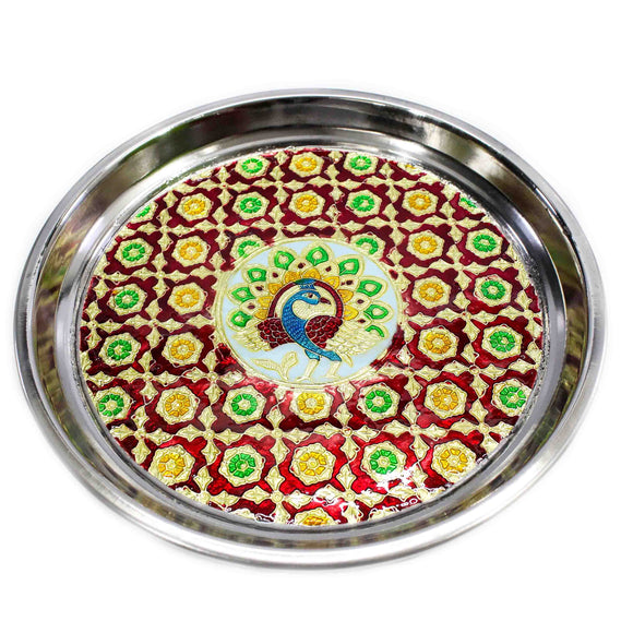 Meenakari Work Decorative Plate