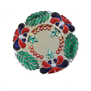 Diwali Candle Holder With 6 Tealight Candles | Multipurpose Decorative plate