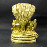 Laxmi Narayana Deity in Pure Brass Murti Vishnu and Laxmi (7 cm high)