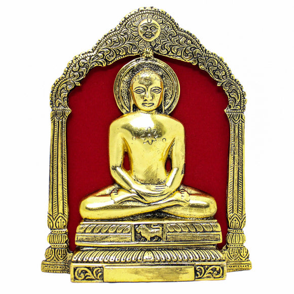 Mahaveera idol Gold plated (22 cm high)