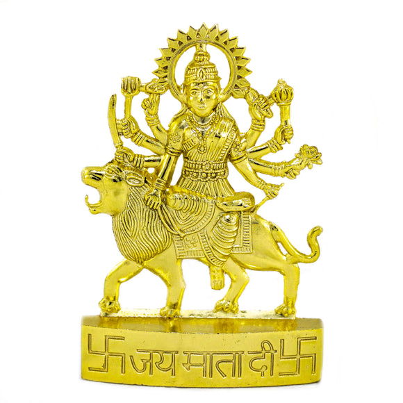 Gold Plated Durga (10.5 cm high)