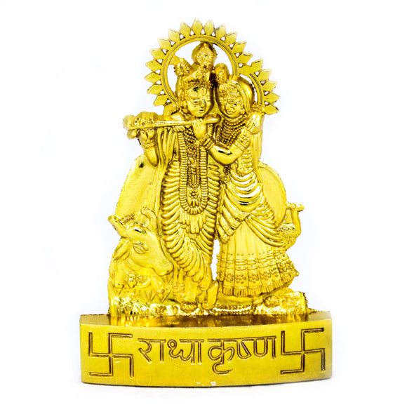 Radha krishna Gold Plated (10 cm high)