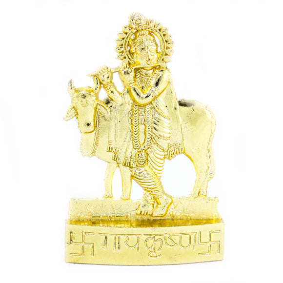 Krishna with cow  (10.5 cm high)