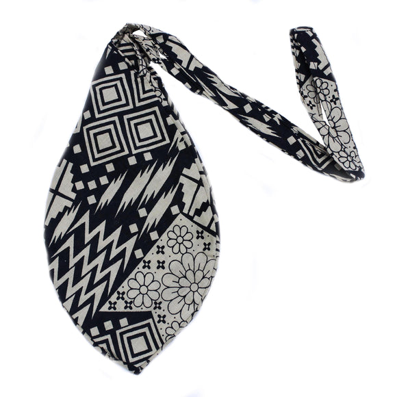 Black and White Abstract Printed Cotton soft Chanting Bag