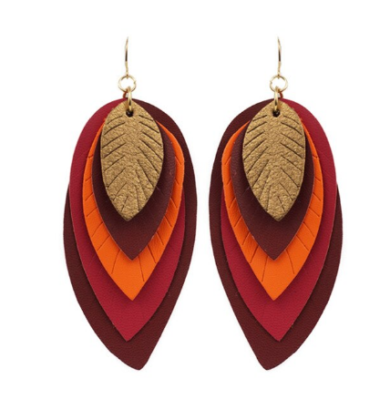 Five Layers  Leather Earrings