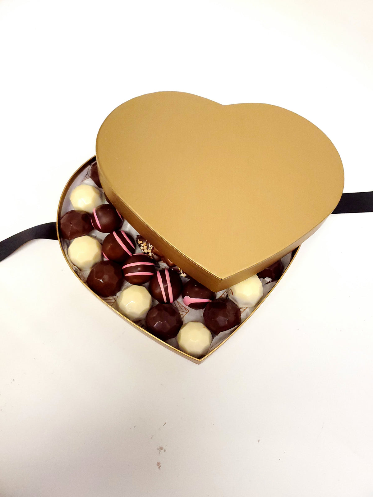 Gold Heart Chocolate Box Gift Love