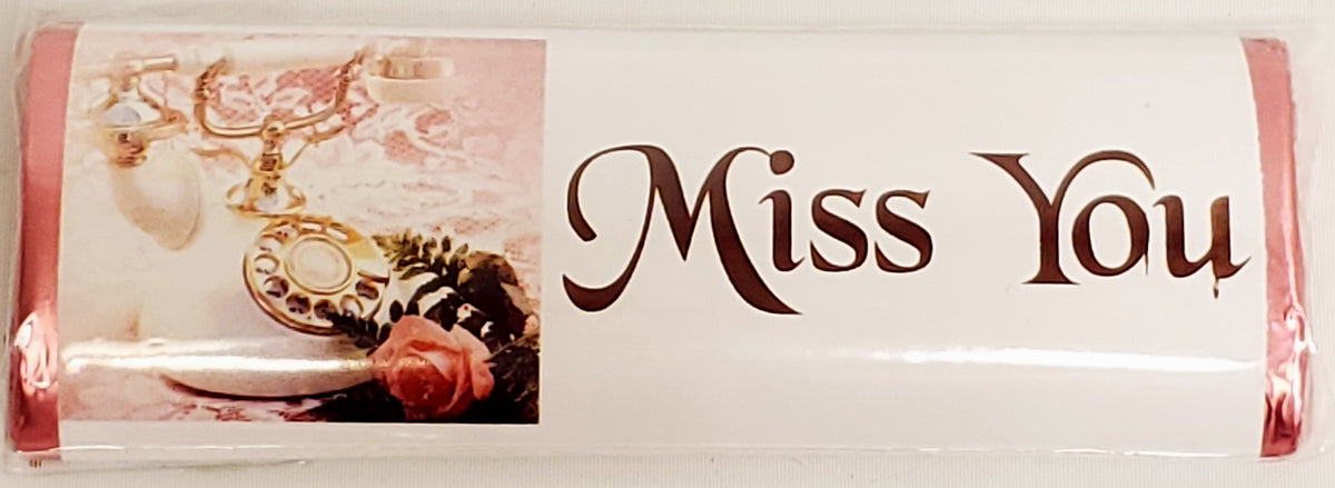 Miss You Chocolate Message