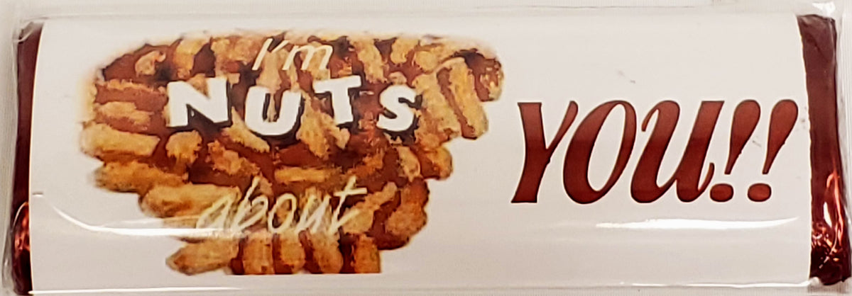 Im Nuts About You Chocolate Message