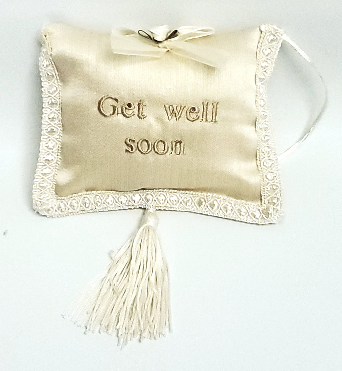 Get Well Soon Pillow With Tassel