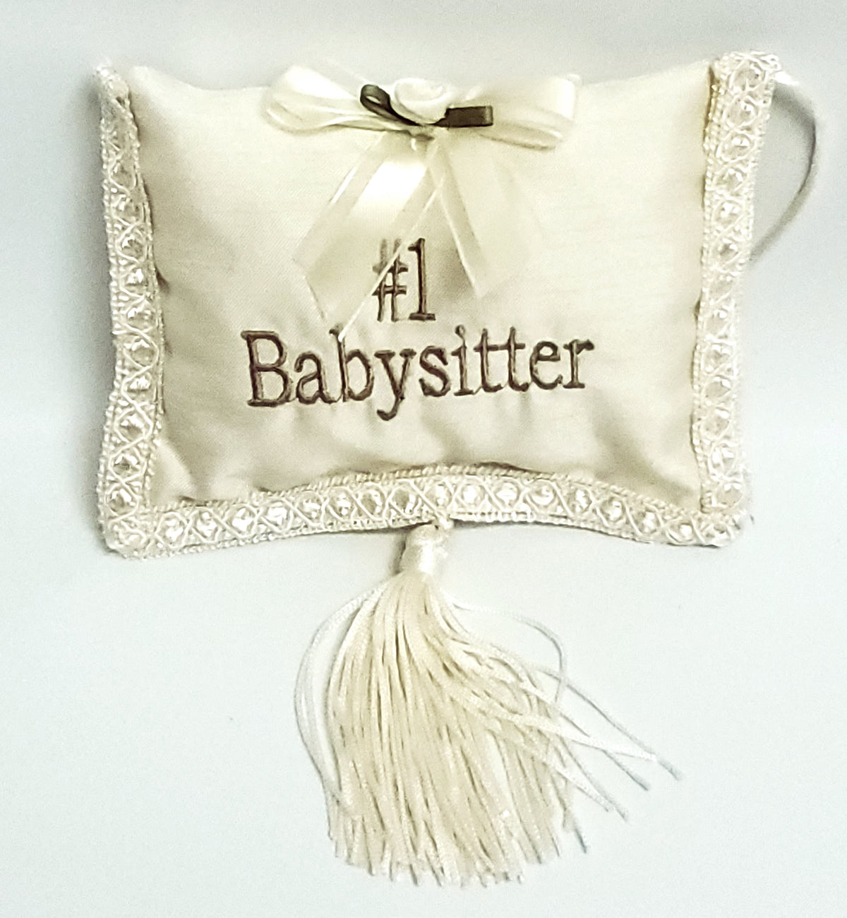 #1 Babysitter Pillow with Tassel