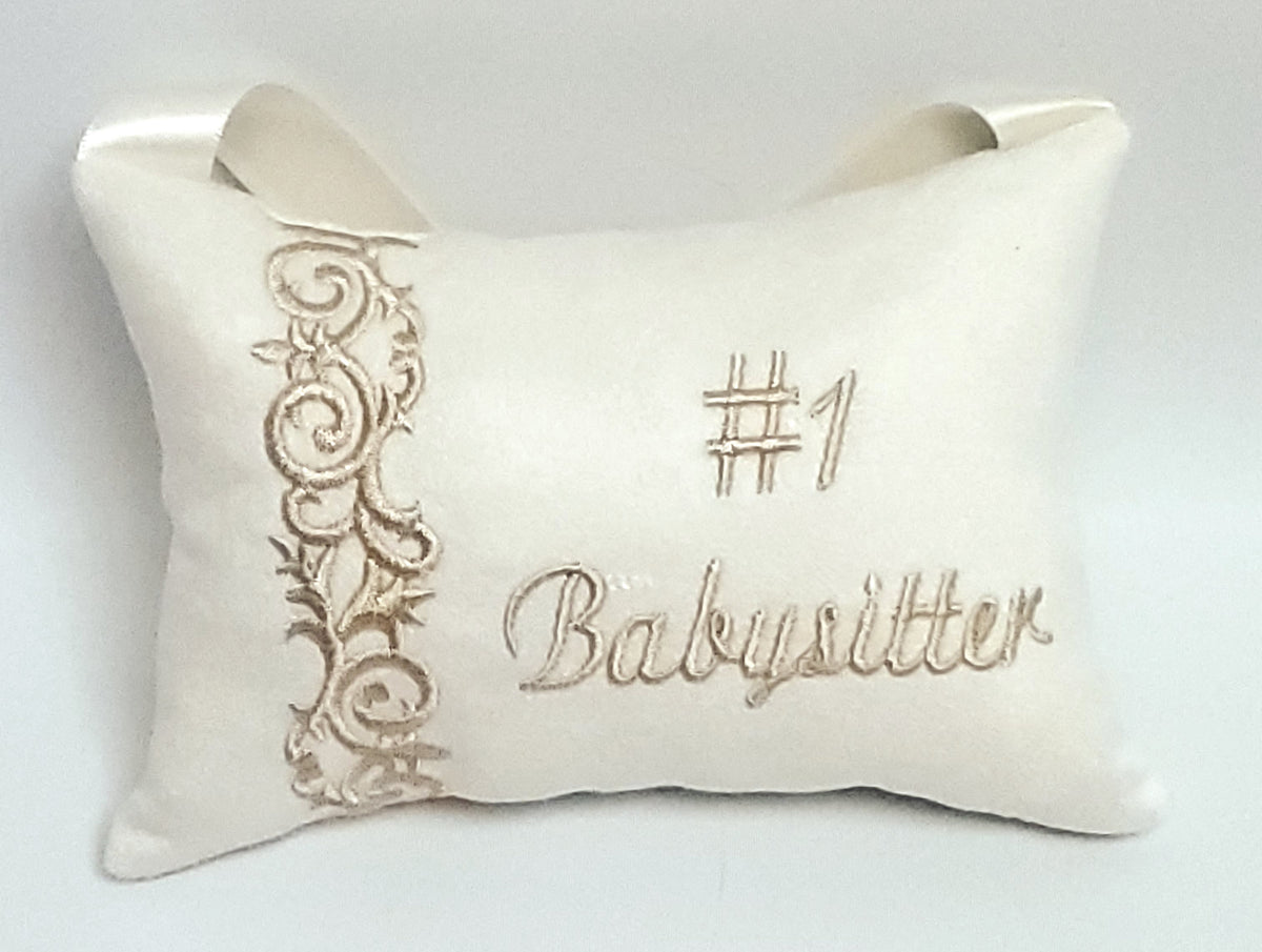 #1 Babysitter Pillow